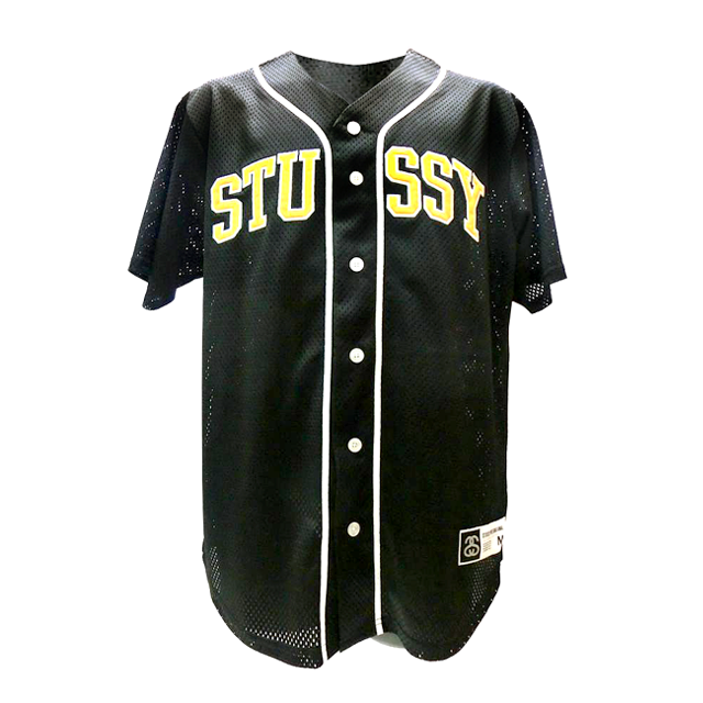STUSSY  メッシュ ベースボールシャツ