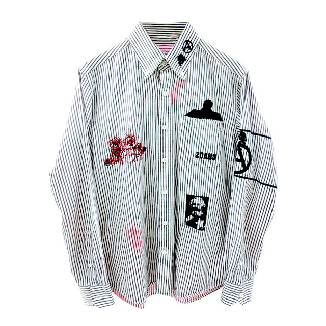 SOPHNET  ストライプシャツ